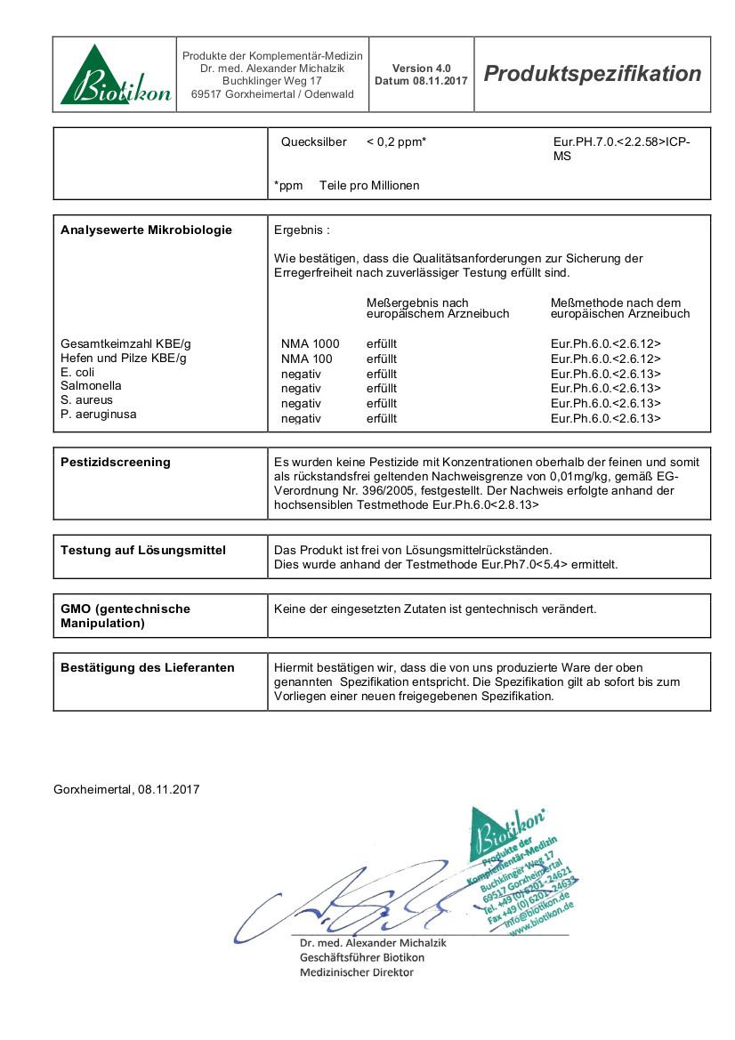 certifikat analyzy 2